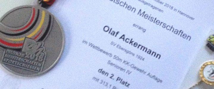 Olaf Ackermann ist Deutscher Vizemeister